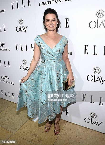 Actress Katie Lowes attends ELLE's Annual Women in Television Celebration on January 13 2015 at Sunset Tower in West Hollywood California Presented...