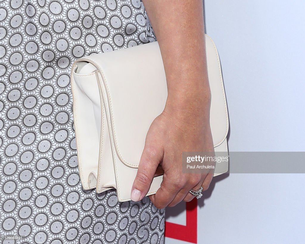 Actress Katie Lowes (Handbag Detail) attends the 1st annual Children Mending Hearts Style Sunday on June 9, 2013 in Beverly Hills, California.