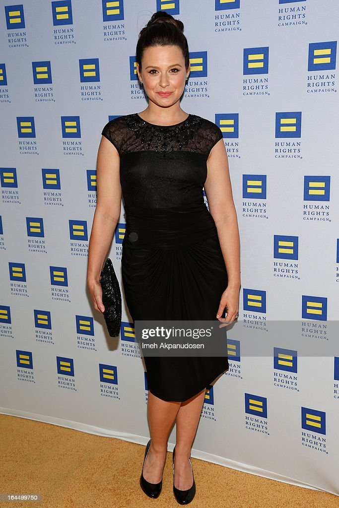 Actress Katie Lowes attends the 2013 Human Rights Campaign Los Angeles Gala at JW Marriott Los Angeles at L.A. LIVE on March 23, 2013 in Los Angeles, California.