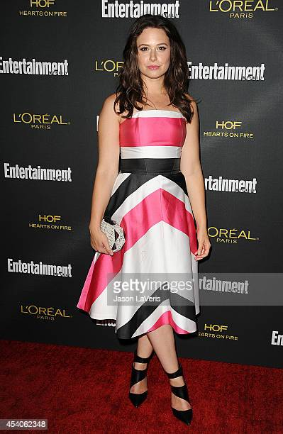 Actress Katie Lowes attends the 2014 Entertainment Weekly preEmmy party at Fig Olive Melrose Place on August 23 2014 in West Hollywood California