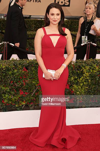 Actress Katie Lowes attends the 22nd Annual Screen Actors Guild Awards at The Shrine Auditorium on January 30 2016 in Los Angeles California