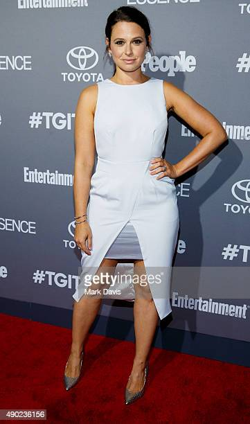 Actress Katie Lowes attends the celebration of ABC's TGIT Lineup held at Gracias Madre on September 26 2015 in West Hollywood California
