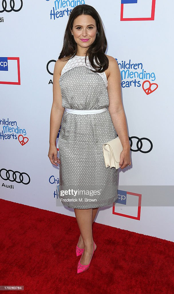 Actress Katie Lowes attends the First Annual Children Mending Hearts Style Sunday on June 9, 2013 in Beverly Hills, California.