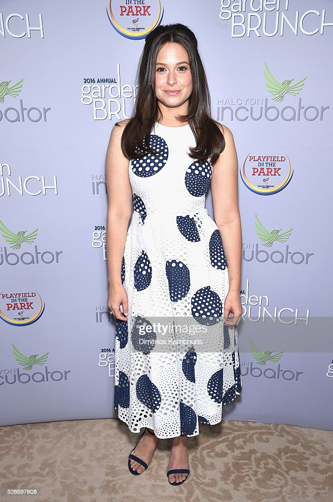 Actress Katie Lowes attends the Garden Brunch prior to the 102nd White House Correspondents' Association Dinner at the Beall-Washington House on April 30, 2016 in Washington, DC.