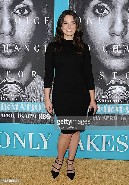 Actress Katie Lowes attends the premiere of 'Confirmation' at Paramount Theater on the Paramount Studios lot on March 31 2016 in Hollywood California