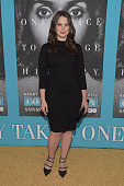Actress Katie Lowes attends the premiere of HBO Films' 'Confirmation' at Paramount Theater on the Paramount Studios lot on March 31 2016 in Hollywood...