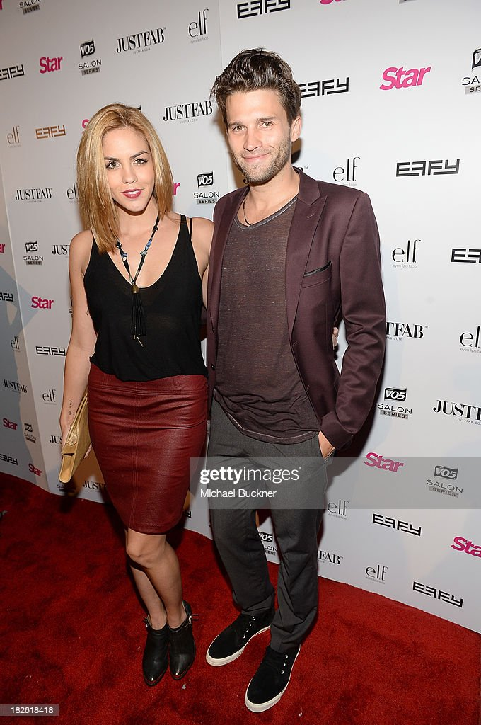 Actress Katie Maloney and Tom Schwartz attend Star Scene Stealers Event at Tropicana Bar at The Hollywood Rooselvelt Hotel on October 1, 2013 in Hollywood, California.