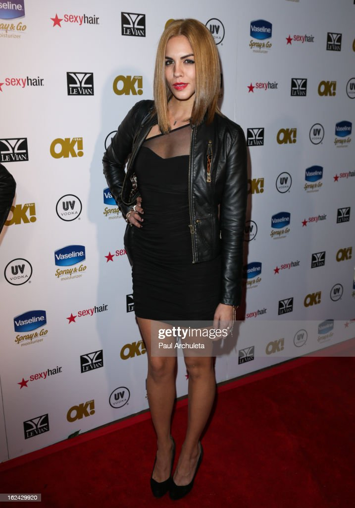 Actress Katie Maloney attends OK! Magazine's Pre-Oscar party at The Emerson Theatre on February 22, 2013 in Hollywood, California.