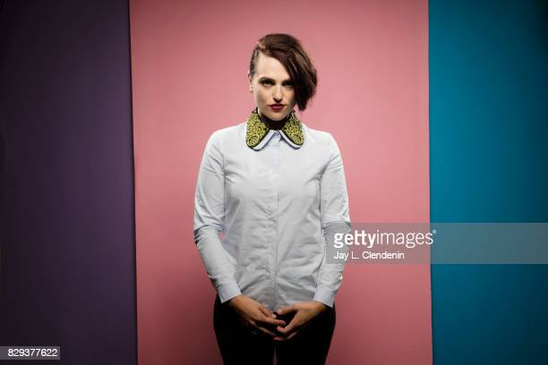 Actress Katie McGrath from the television series 'Supergirl' is photographed in the LA Times photo studio at ComicCon 2017 in San Diego CA on July 22...