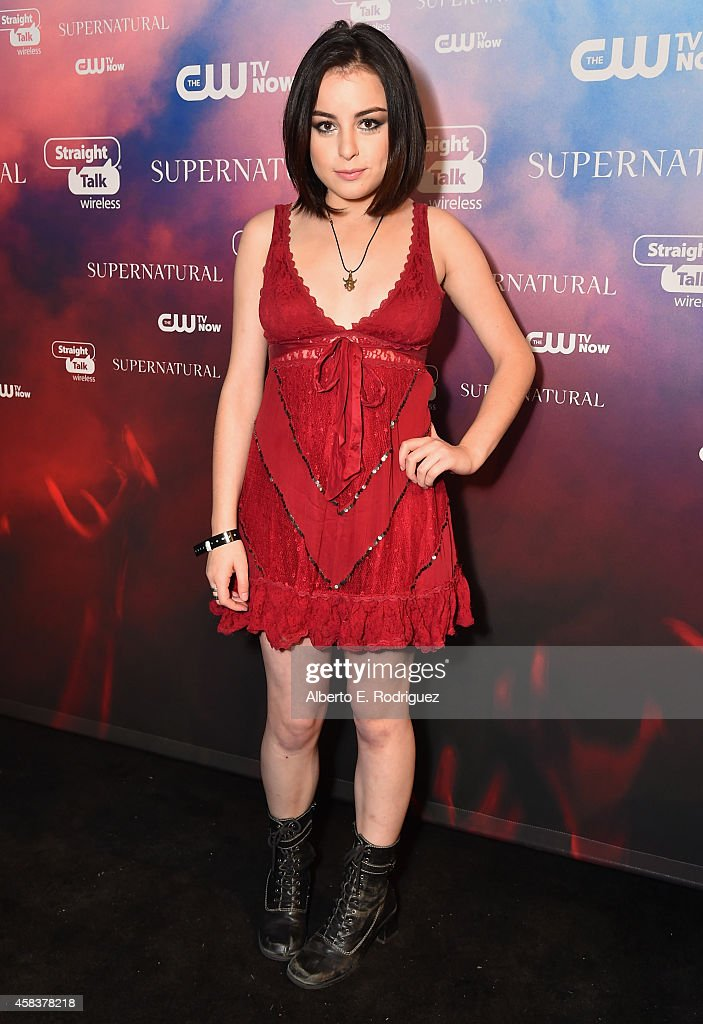 Actress Katie Sarife attends the CW's Fan Party to Celebrate the 200th episode of 'Supernatural' on November 3, 2014 in Los Angeles, California.