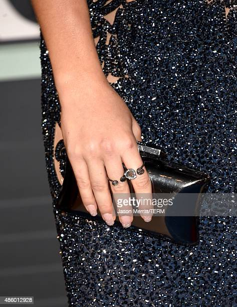 Actress Katie Stevens fashion detail attends the 2015 MTV Video Music Awards at Microsoft Theater on August 30 2015 in Los Angeles California