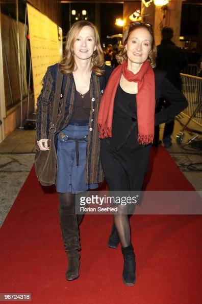 Actress Katja Flint and actress Eleonore Weisgerber attend the 'Director's Birthday' party at the LANCIA Lifestyle Lounge at Quartier 110 on February...