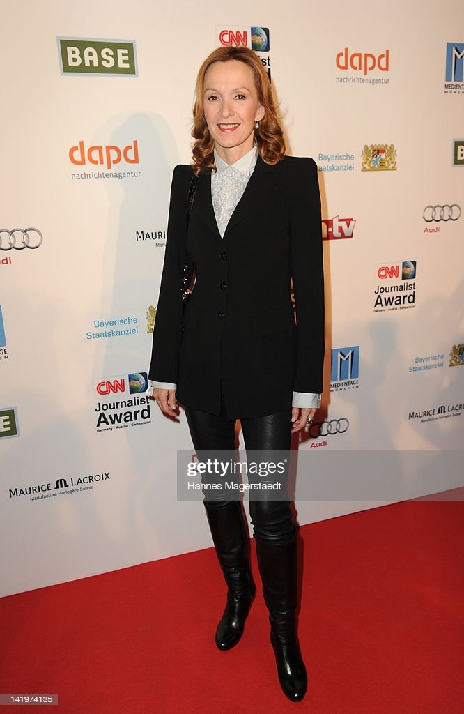 Actress Katja Flint attends the CNN Journalist Award 2012 at the GOP Variete Theater on March 27 2012 in Munich Germany