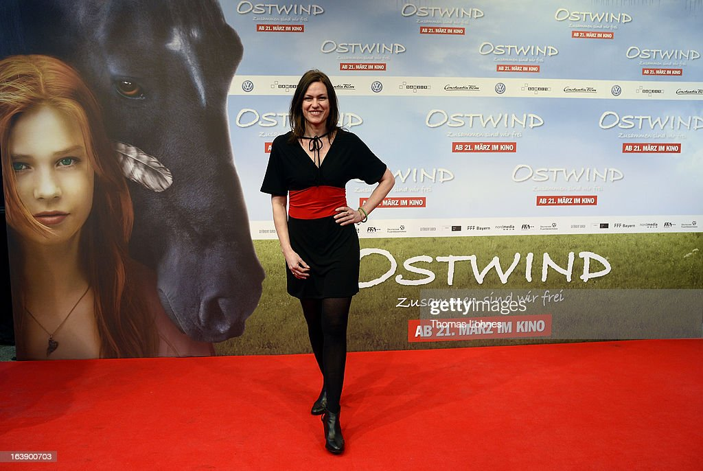 Actress Katja Kronjaeger attends the premiere of the film 'Ostwind' on March 17, 2013 in Frankfurt am Main, Germany. The family film portrays the friendship between the young Mika and the wild and shy stallion 'Ostwind' (east wind). Katja Kronjaeger is seen als 'Nikas mother' in the film