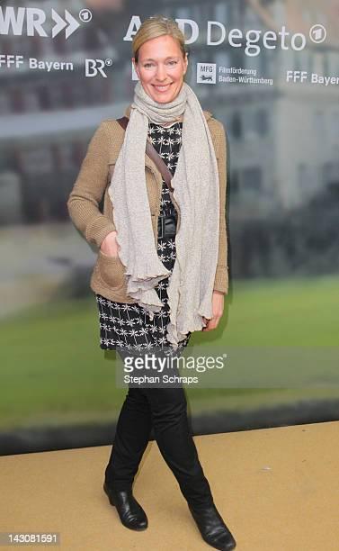 Actress Katja Weitzenboeck attends the premiere of 'Die Heimkehr' at Astor Film Lounge movie theater Kurfuerstendamm on April 18 2012 in Berlin...