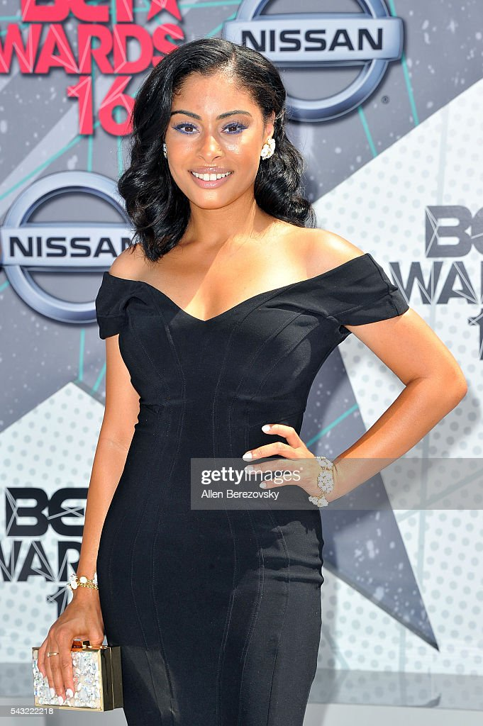 Actress Katlynn Simone attends the 2016 BET Awards at Microsoft Theater on June 26, 2016 in Los Angeles, California.