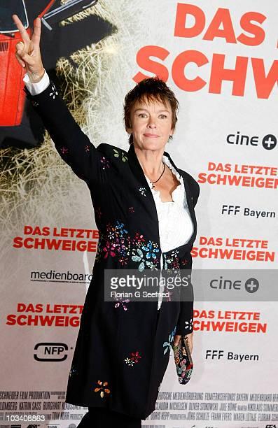 Actress Katrin Sass attends the German Premiere of 'Das Letzte Schweigen' at cinema International on August 16 2010 in Berlin Germany