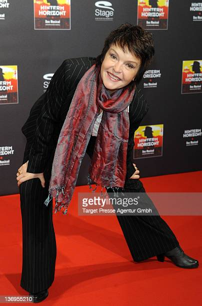 Actress Katrin Sass attends the 'Hinterm Horizont' Musical 1st anniversary at 'Theater am Potsdamer Platz' on January 13 2012 in Berlin Germany