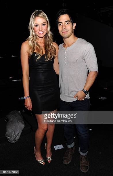 Actress Katrina Bowden and Ben Jorgensen attend the 2013 Victoria's Secret Fashion Show at Lexington Avenue Armory on November 13 2013 in New York...