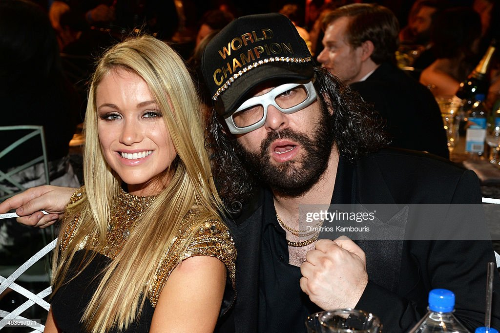 Actress Katrina Bowden and Judah Friedlander attend the 20th Annual Screen Actors Guild Awards at The Shrine Auditorium on January 18 2014 in Los...