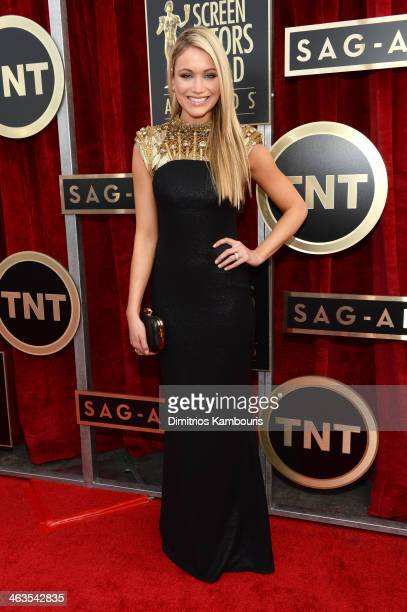 Actress Katrina Bowden attends 20th Annual Screen Actors Guild Awards at The Shrine Auditorium on January 18 2014 in Los Angeles California
