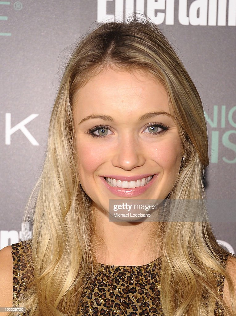 Actress Katrina Bowden attends Entertainment Weekly and NBC's celebration of the final season of 30 Rock sponsored by Garnier Nutrisse on October 3, 2012 in New York City.