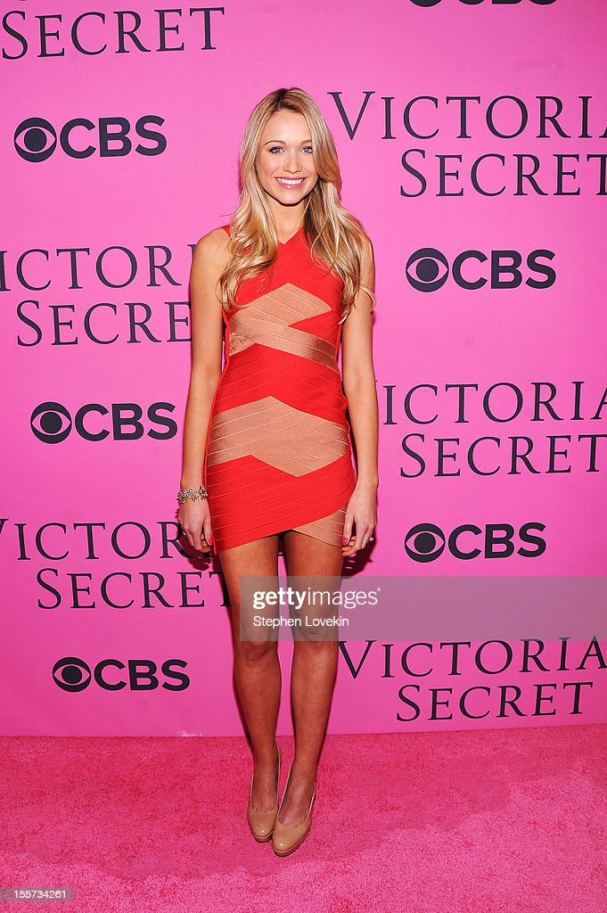 Actress Katrina Bowden attends the 2012 Victoria's Secret Fashion Show at the Lexington Avenue Armory on November 7, 2012 in New York City.