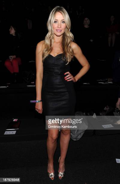 Actress Katrina Bowden attends the 2013 Victoria's Secret Fashion Show at Lexington Avenue Armory on November 13 2013 in New York City