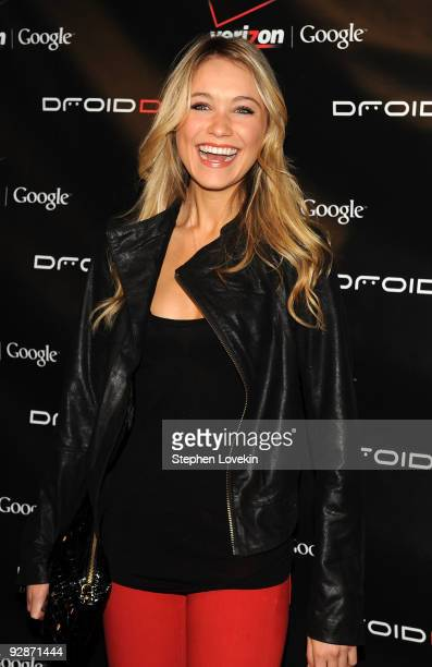 Actress Katrina Bowden attends the Verizon Wireless DROID Launch at The Angel Orensanz Foundation on November 6 2009 in New York City