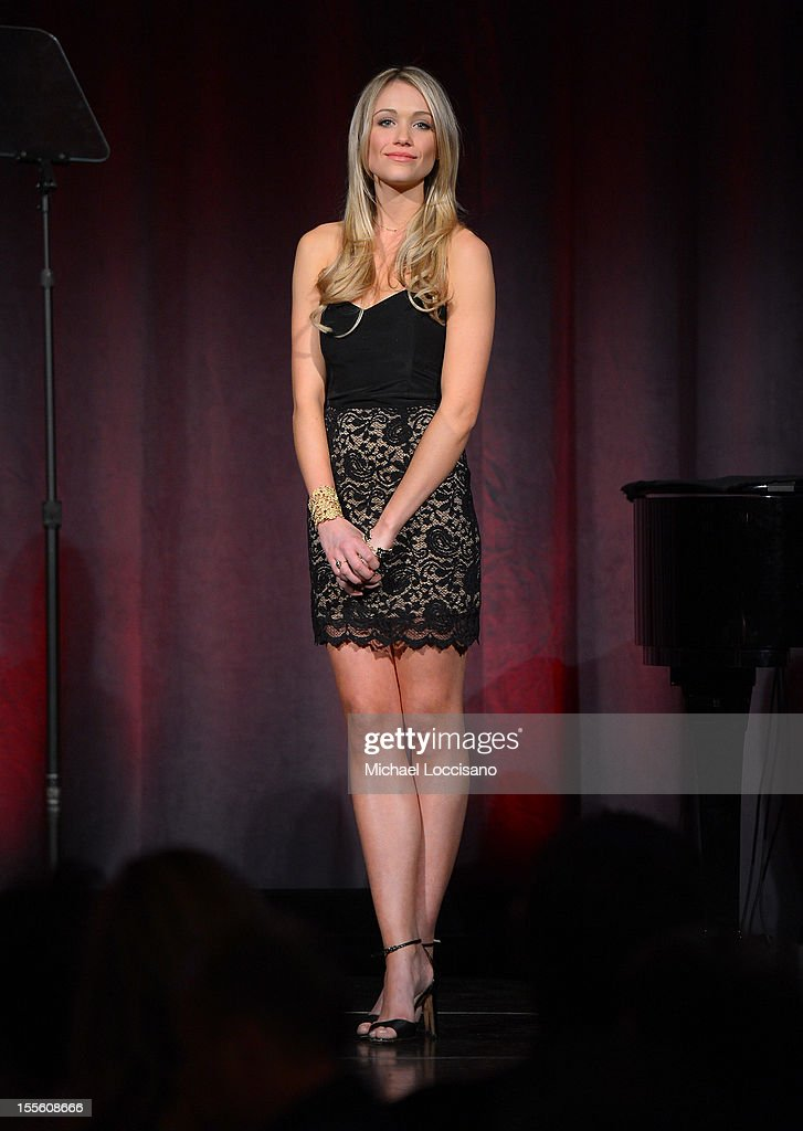 Actress Katrina Bowden presents the award for Retail Innovation of the Year at the 16th Annual ACE Awards presented by the Accessories Council at Cipriani 42nd Street on November 5, 2012 in New York City.