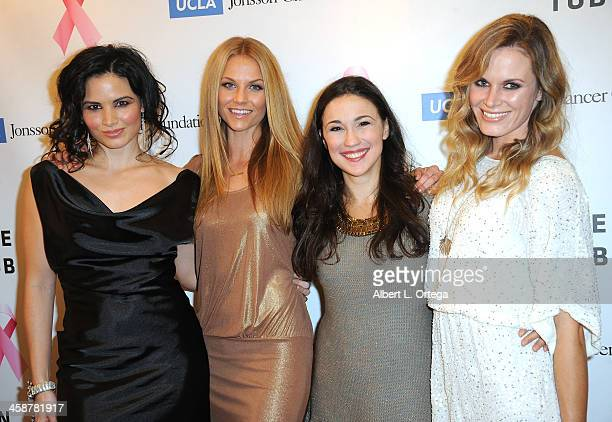 Actress Katrina Law actress Ellen Hollman actress Jenna Lind and Lauren Shaw attend TJ Scott's 'In The Tub' Book Party Launch to benefit UCLA's...