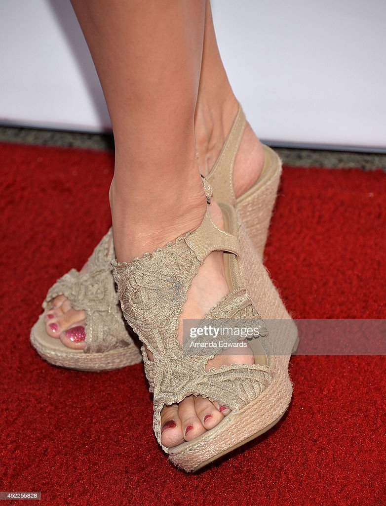 Actress Katrina Law (shoe detail) arrives at the 4th Annual Variety - The Children's Charity of Southern CA Texas Hold 'Em Poker Tournament at Paramount Studios on July 16, 2014 in Hollywood, California.