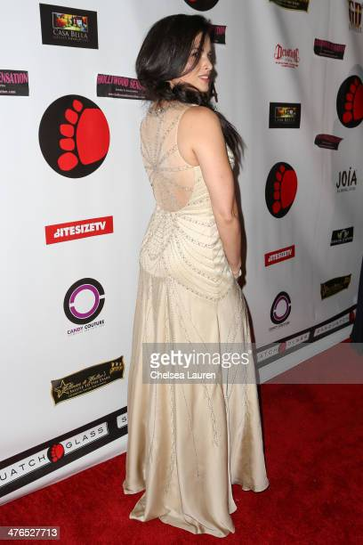 Actress Katrina Law arrives at the Hellman Waters 4th annual salute to the stars Oscar event at W Hollywood on March 2 2014 in Hollywood California