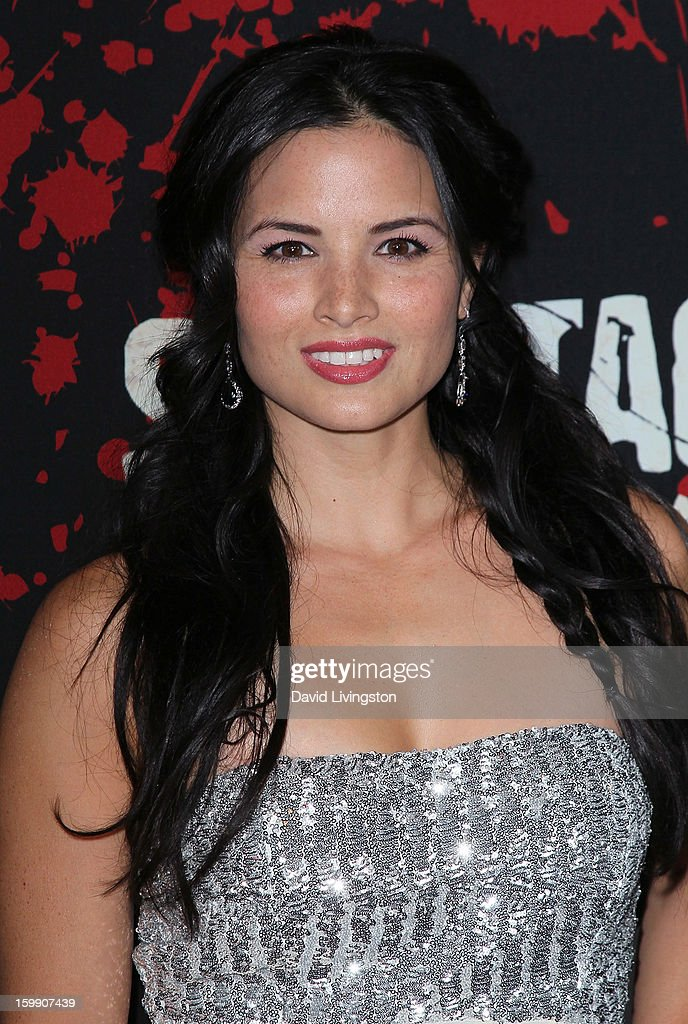 Actress Katrina Law attends the premiere of Starz's 'Spartacus: War of the Damned' at Regal Cinemas L.A. Live on January 22, 2013 in Los Angeles, California.