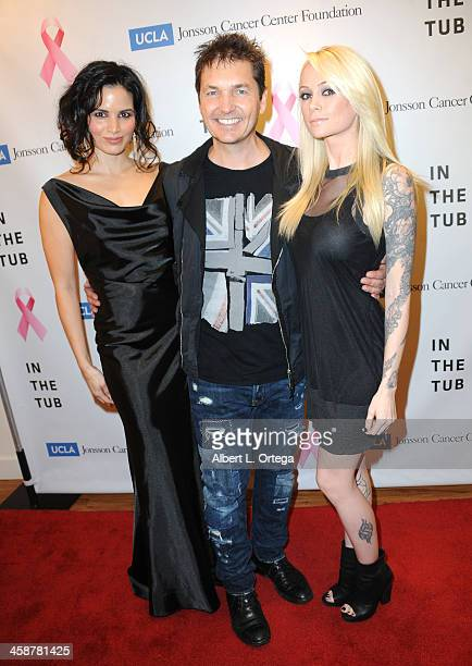 Actress Katrina Law photographer TJ Scott and model Jessica Melland attend TJ Scott's 'In The Tub' Book Party Launch to benefit UCLA's Jonsson Cancer...