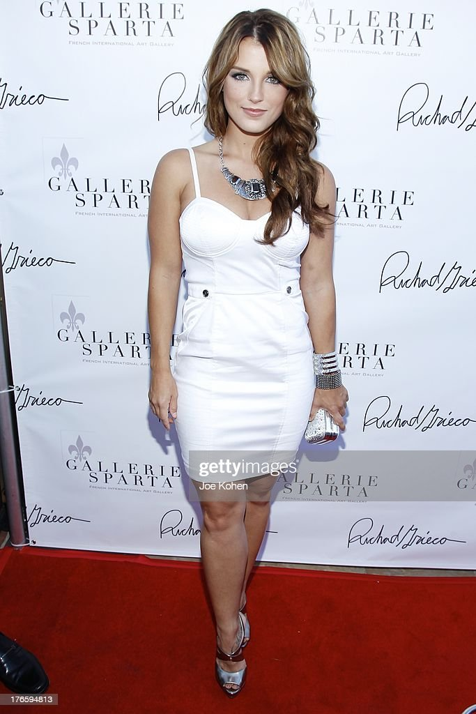 Actress Katrina Norman attends Richard Grieco's opening night gala for his one-man art exhibit 'Sanctum Of A Dreamer!' at Gallerie Sparta on August 15, 2013 in West Hollywood, California.