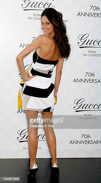 Actress Katy Louise Sanders attends Gucci Fashion Show and Party held at Villa Aurelia on July 8 2008 in Rome Italy