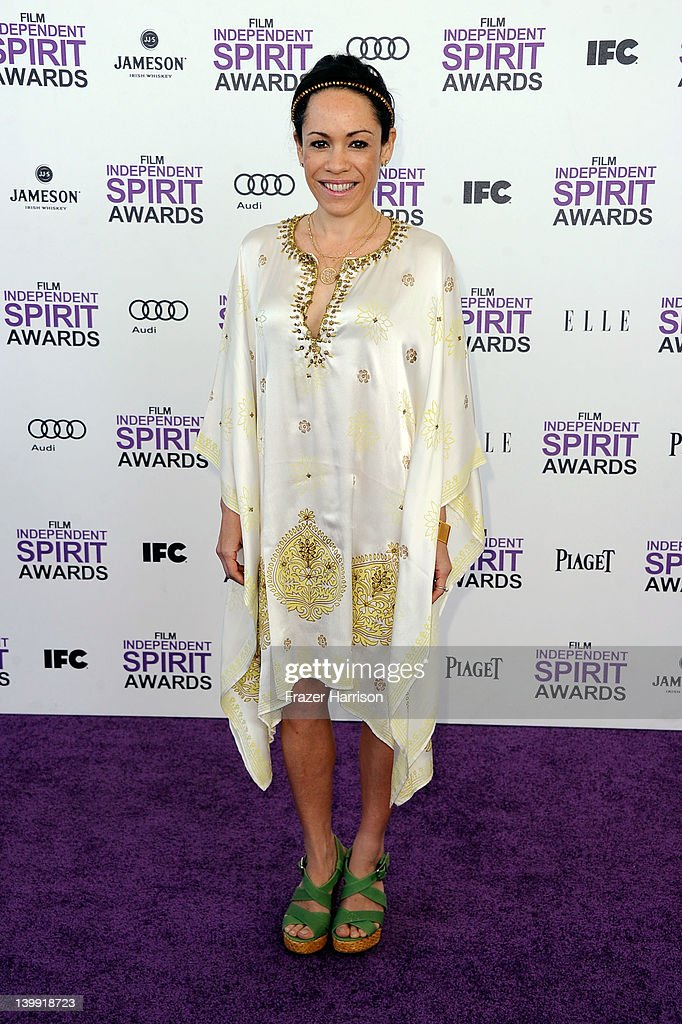 Actress Kaui Hart Hemmings arrives at the 2012 Film Independent Spirit Awards on February 25, 2012 in Santa Monica, California.