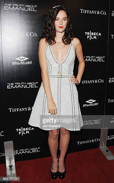 Actress Kaya Scodelario arrives at the Los Angeles Premiere 'The Truth About Emanuel' at ArcLight Hollywood on December 4 2013 in Hollywood California