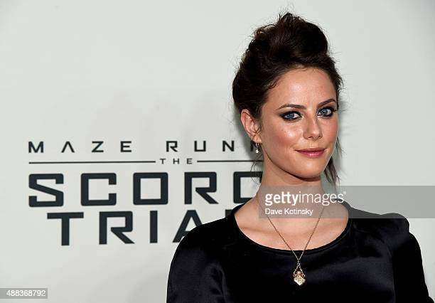 Actress Kaya Scodelario attends 'Maze Runner The Scorch Trials' New York Premiere at Regal EWalk on September 15 2015 in New York City