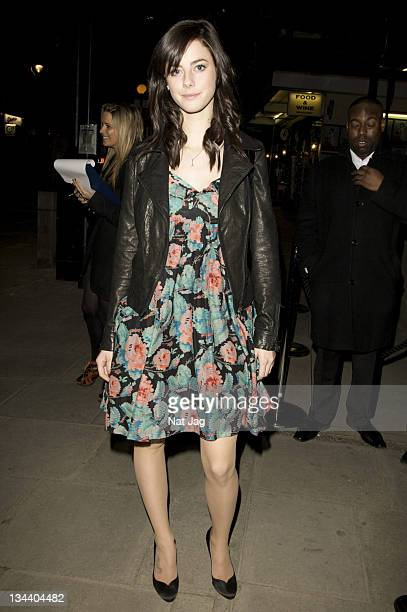 Actress Kaya Scodelario attends the MAC Salutes Party at The Hospital Club on February 22 2009 in London England