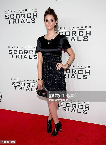 Actress Kaya Scodelario attends the 'Maze Runner The Scorch Trials' New York Premiere at Regal EWalk on September 15 2015 in New York City