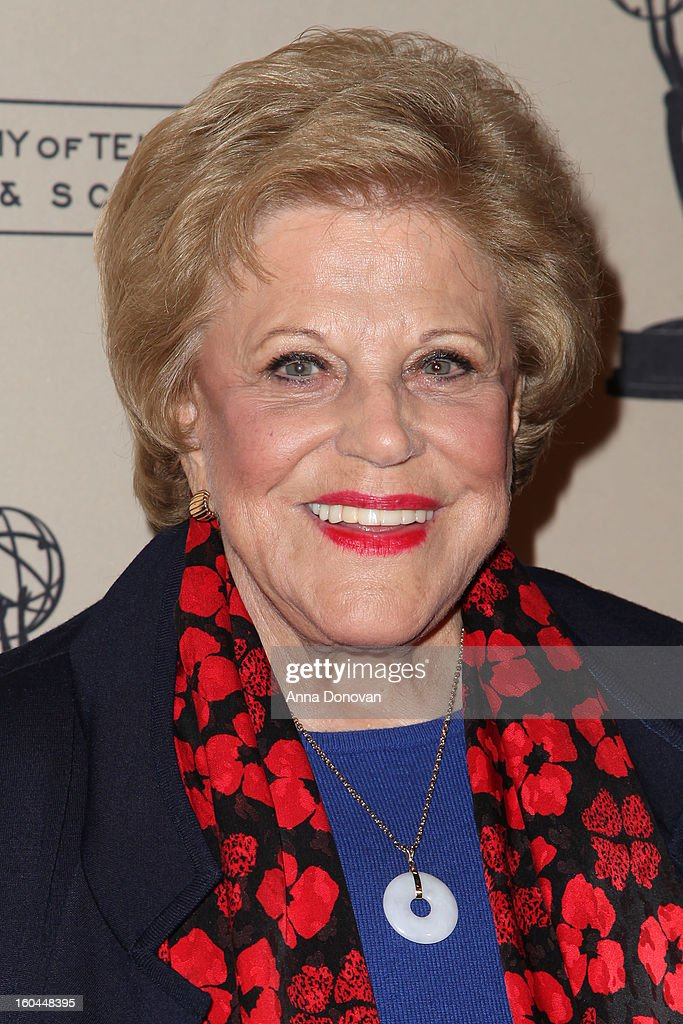 Actress <a gi-track='captionPersonalityLinkClicked' href=/galleries/search?phrase=Kaye+Ballard&family=editorial&specificpeople=1068081 ng-click='$event.stopPropagation()'>Kaye Ballard</a> attends 'Retire From Showbiz:? No Thanks!' at the Academy of Television Arts & Sciences Conference Centre on January 31, 2013 in North Hollywood, California.