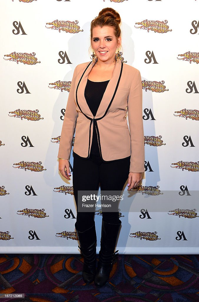 Actress Kayla Buchanan arrives at SA Studios and Mister Cartoon VIP Screening and After Party of Warner Brothers Pictures 'Gangster Squad' at La Live Regal Cinemas on November 29, 2012 in Los Angeles, California.