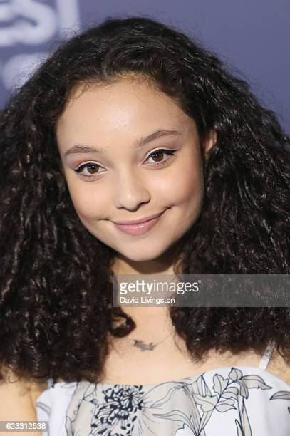 Actress Kayla Maisonet arrives at the AFI FEST 2016 presented by Audi premiere of Disney's 'Moana' held at the El Capitan Theatre on November 14 2016...