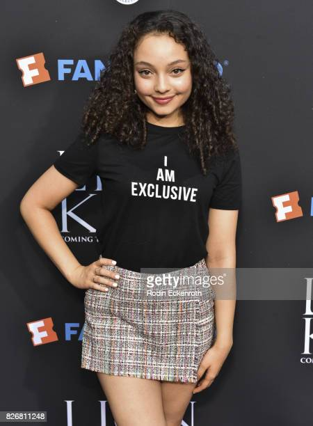 Actress Kayla Maisonet attends 'The Lion King' singalong screening at The Greek Theatre on August 5 2017 in Los Angeles California