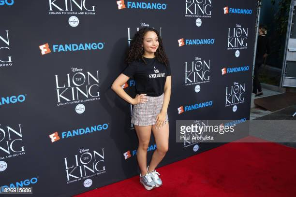 Actress Kayla Maisonet attends the 'The Lion King' singalong and screening at The Greek Theatre on August 5 2017 in Los Angeles California
