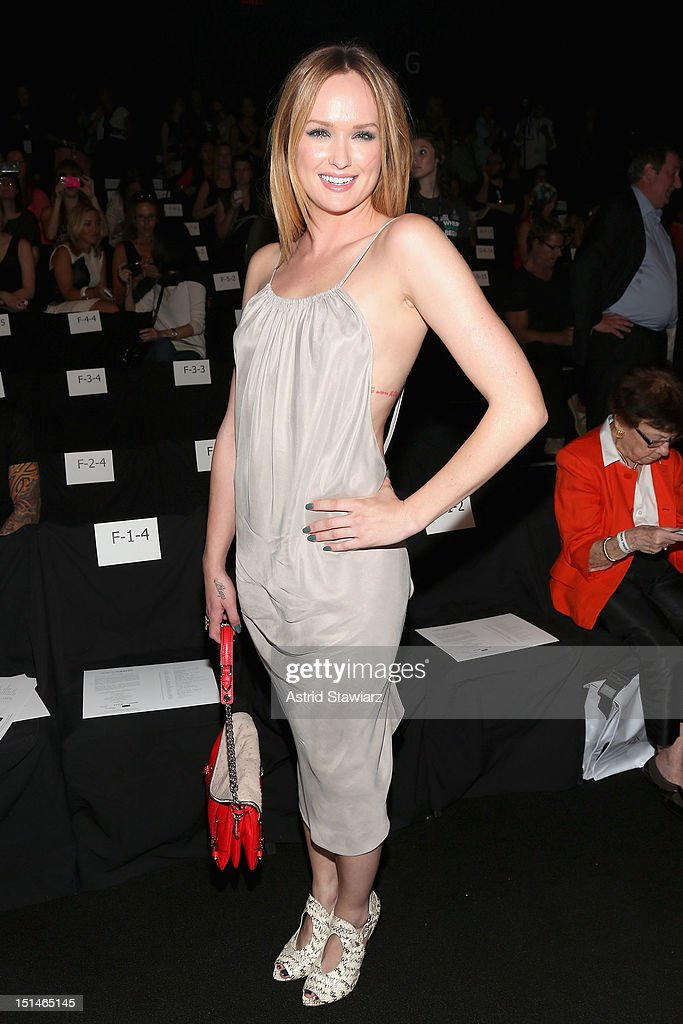 Actress Kaylee DeFer attends the Rebecca Minkoff Spring 2013 fashion show for TRESemme during Mercedes-Benz Fashion Week at The Theater at Lincoln Center on September 7, 2012 in New York City.