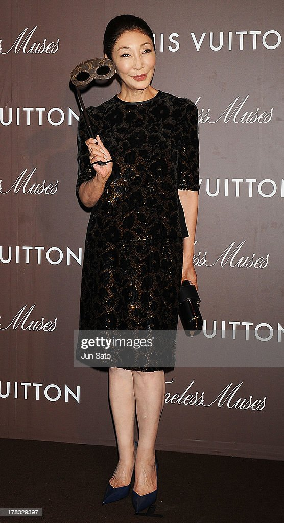 Actress Kazu Ando attends Louis Vuitton 'Timeless Muses' exhibition at the Tokyo Station Hotel on August 29, 2013 in Tokyo, Japan.