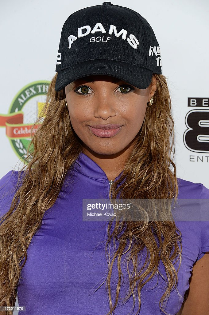 Actress K.D. Aubert attends The 4th annual Alex Thomas Celebrity Golf Classic presented by Belvedere at Mountain Gate Country Club on July 15, 2013 in Los Angeles, California.